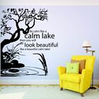 Be Calm Like A Lake House Quote Wall Sticker Home Room Vinyl Art Decal Decor