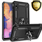 For Samsung Galaxy A10e Case,  Ring Kickstand Cover + Tempered Glass Protector
