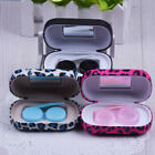 Travel Portable Leopard Pattern Storage Contact Lens Case Box Container Kit G