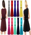 Ladies Smart Skater Belted Pleated Skirt Mini Party Top Women's Dress 8-26