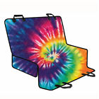 Tie Dye Fashion Pet Dog Cat Car Seat Cover Rear NonSlip Hammock Mat Cushion Pad