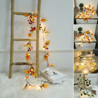 20 LED Maple Leaves Fall Garland String Light Decor Halloween Christmas Party