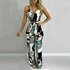 UK Women Floral V Neck Strappy Playsuit Ladies Summer Holiday Jumpsuit Romper