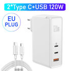 120W GaN Type C PD Quick Charge QC3.0 4.0 for MacBook Pro Samsung Laptop Tablet