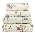 Floral Sheet Set Flat/Fitted/Pillowcases Small Blue Pink Floral image