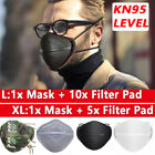 Washable Separate Nose Mouth Masks Carbon Filters Air Purify Protection Reusable