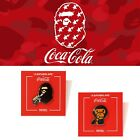 A BATHNIG APE Goods BAPE x COCA-COLA PINTRILL PINS 2Type Milo/Ape Head New $78.95  on eBay