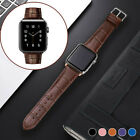 For Apple Watch Band Genuine Leather Iwatch Strap Series 6 5 4 3 2 38 40 42 44mm
