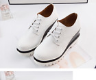 Women's Shoes Platform Wedge Korean Pumps Fashion Sneakers High Heel Lace Up NEW