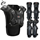 Motocross Armor Vest Motorcycle Protective Gear Knee Elbow Pads Back Guard Adult