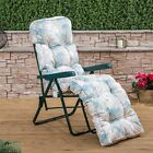 Sun Lounger Garden Recliner Chair Luxury Padded Cushion Outdoor Furniture Patio