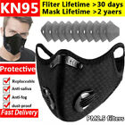 Sport Breathing Valve Face Maske Washable With Activated Carbon Filters Reusable