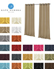 Kate Aurora 2 Pack Semi Sheer Grommet Curtain Panels - Assorted Colors & Sizes