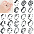 925 Sterling Silver Adjustable Open Band Thumb Rings Womens Mens Toe Rings Uk
