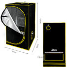 600D Grow Tent Kit Green Room Plant Box Silver Mylar Hydroponics Bud Dark Indoor