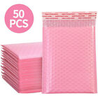 50pcs Bubble Padded Envelopes Bags Self Seal Pink Poly Courier Bags Waterproof