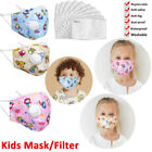 Kids Mouth Mask With Valve Filter Breathable Washable Child Face Masks Reusable
