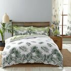 Charlotte Thomas Fern Design Reversible Duvet Cover Set / Curtains White & Green