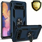 For Samsung Galaxy S10E Plus Case, Kickstand Cover + Tempered Glass Protector