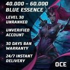 Oce League Of Legends Lol Account Smurf 40.000 - 70.000 Be Unranked Level 30 Pc