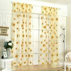 Patgoal Sunflower Scarf Sheer Voile Door Window Curtains Drape Panel Screens She