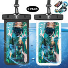 2 Pack Waterproof Floating Cell Phone Pouch Dry Bag Case Cover For Phone Samsung