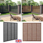 Louver Fence 170x170cm Grey/Brown Panel Replacement Garden Support Holder New