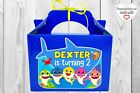Personalised Baby Shark party boxes / bags. For birthday favors, gift, sweets
