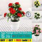 Plants In Pot Artificial Rose Flowers Realistic Outdoor Garden Table Home Decor