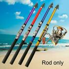 Fishing Rod Spinning Telescopic Pole Full Combo Travel Portable Strong Hard M5F9