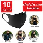 Kyпить 10-Pack Black Face Mask Reusable Washable Cover Masks Fashion Cloth Men Women на еВаy.соm