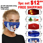 Halloween Zombie Adjustable Cotton Face Mask Washable Reusable 4- Layer filter