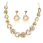 Gold Plated Imitation Pearl Necklace Earrings Jewellery Set S65