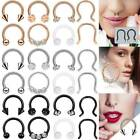 8× Surgical Steel Septum Clicker Retainer Nose Hoop Horseshoe Ring Body Piercing