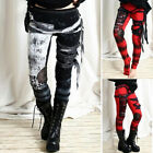 Women's Medieval Steampunk Gothic Leggings Trouser Cosplay Costume Skinny Pants