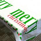 Best New Year Christmas Tablecloth Kitchen Dining Dec. Mat Shape Hot O3z3