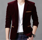 Men's Slim Fit Single-breasted Blazers Dress Formal Business Coat Casual Jacket
