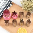 8x Stainless Steel Flower Shape Fruit Vegetable Peelers Cookies Cutter Mold WS