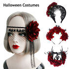 Bridal Headpiece Hair Wreath Red Rose Crown Wedding Garland Halloween Headbands