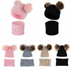 Knitted Baby Beanie Hat Scarf Set For Girl Boy Winter Warm Cap Baby Accessories