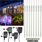 8 Tubes 30/50CM LED Meteor Shower Lights Falling Rain Icicle Xmas Party Outdoor