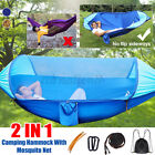 Outdoor Travel Double ing Hanging Hammock Bed with No Flip Side Way Net