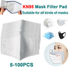 5-100pcs Filters For Mask Insert Replaceable Adult Anti Haze Mouth Filter Pad Us