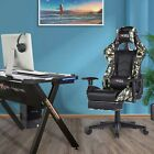 Computer Racing Game Chair Ergonomic Swivel Office Computer Desk Seat PU Leather