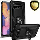 For Samsung Galaxy Note 8 Case, Ring Kickstand Cover+ Tempered Glass Protector