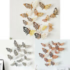 12pcs/set 3d Butterfly Art Decal Wall Stickers/magnetic Home Decor Room Decor