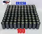 Lot CR123A 3v Lithium Battery Longest Expiration Date 3000mAh Brand New Black