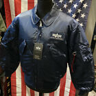 Genuine Alpha Industries CWU 45 Rep Blue Core Line Flight Bomber Jacket