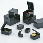 Black PC Storage Boxes Plastic Craft Beads Jewellery Organiser Compartment Cases