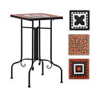 Modern Mosaic Bistro Side Table Ceramic Patio Table Plant Stand Garden Desk UK